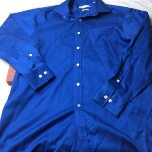 Michael Kors Non Iron Blue LS Casual Dress Sz 15.5